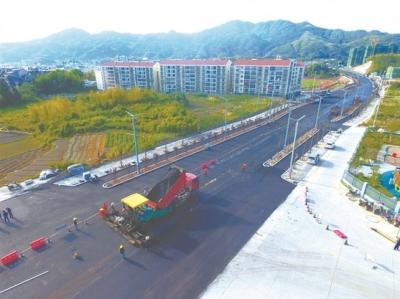 柘荣县进城大道城关段路基已贯通