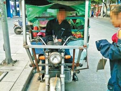 无证驾驶改装摩托载妻去广州 根据导航驾驶误闯福安禁行路段被查