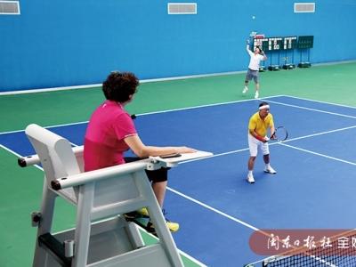 福建省全民健身运动会厅级老领导网球邀请赛开赛