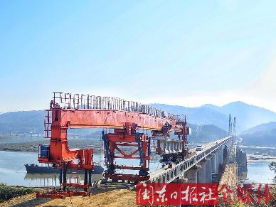 衢宁铁路(福建段)建设突破重难点 西陂塘特大桥架设完成