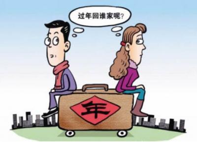 """""""过年回谁家""""?七成已婚受访青年正被这个问题困扰"""