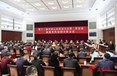 福建代表团举行全体会议