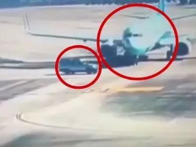 突发!福州机场内,SUV险撞飞机!飞机被逼停