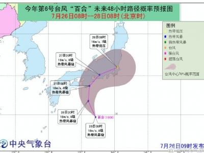 """中央气象台:今年第6号台风""""百合""""生成,对我国海区无影响"""