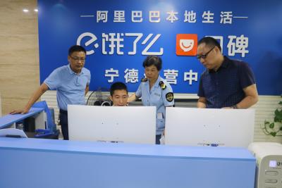 东侨市场监管局开展网络餐饮服务食品安全专项整治回头看