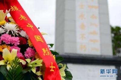 """""""和平列车""""医疗队在老挝祭扫中国烈士陵园"""