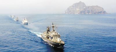 韩国独岛军演规模翻番 日本抗议敦促停止