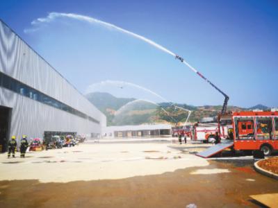 宁德消防救援支队开展无预案灭火实战演练