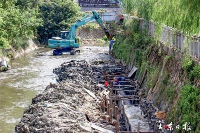 霞浦县大力推进护城河黑臭水体整治
