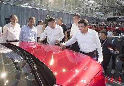 宁德速度!仅17个月,上汽宁德基地正式投产,第一辆汽车今日下线