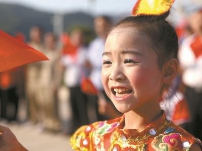 """福安罗江街道举办""""我和我的祖国""""快闪活动"""