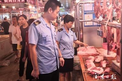 东侨市场监管局开展食用农产品质量安全监管和非洲猪瘟防控专项检查