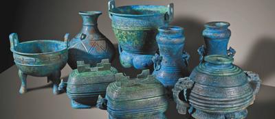 中国追回流失日本的曾伯克父青铜组器