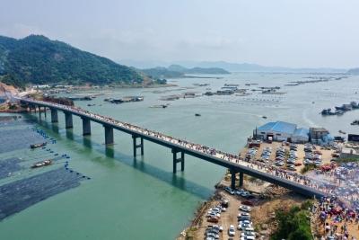 霞浦东安岛海防大桥正式通车