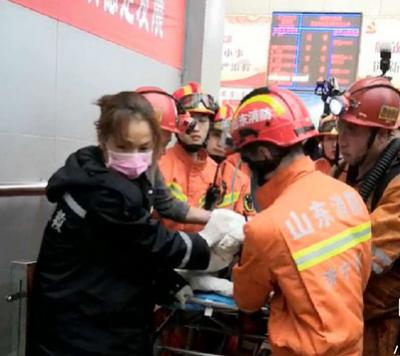 山东梁宝寺火灾事故被困人员全部获救