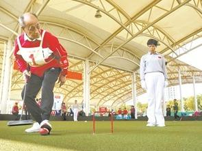2019年福建省全民健身运动会(宁德赛区)门球比赛在我市体育中心拉开帷幕