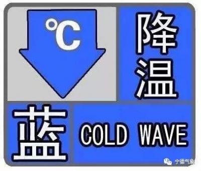 市气象台发布降温蓝色预警,今天夜里起气温明显下滑