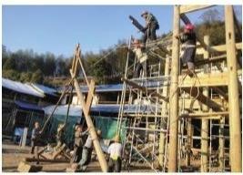 荣县乍洋乡凤岐自然村的吴氏大宅修缮工程预计明年上半年竣工