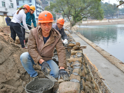福安穆阳溪穆阳镇段防洪工程预计春节前可全面完工