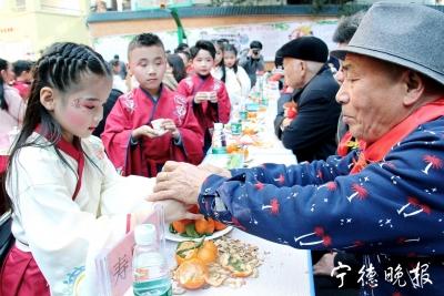 霞浦松港东关社区为65位寿星集体祝寿