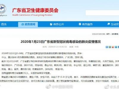 广东新增6例新型肺炎确诊病例