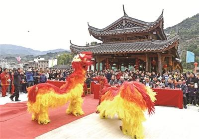 寿宁斜滩:村民众筹建廊桥 古镇人文添亮点