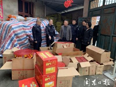 男子非法存储烟花爆竹28箱被拘留12日