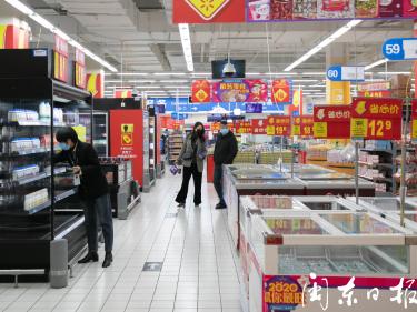 超市:防控不松懈,供应有保障