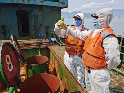 连续出击 宁德海警两天查扣涉案海砂约6000吨 成品油约200吨