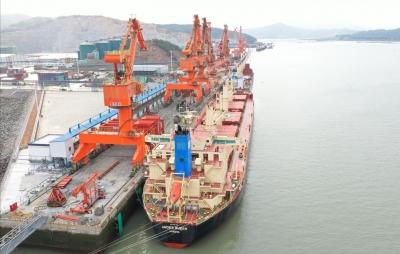 三都澳港区漳湾作业区吞吐量逆势增长