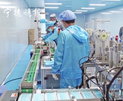 霞浦三沙民企转型日产口罩10万只  将推向全球市场