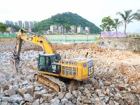 贵岐山污水处理厂扩建工程正在加紧施工中