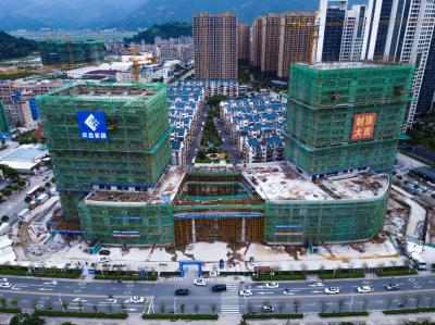市重点项目华侨大厦封顶