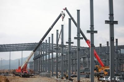 周宁县不锈钢深加工产业园四家企业已封顶