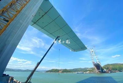 沙埕湾跨海大桥预计8月20日合龙
