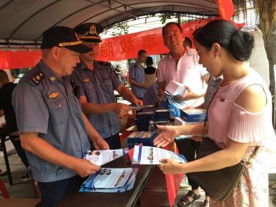 霞浦交通执法大队联合多部门开展安全生产月宣传