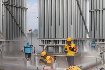 宁德新奥三屿LNG储配站开展特种设备应急抢险演练