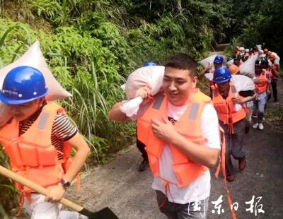 霞浦水门:举办防汛抢险应急演练