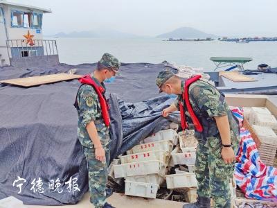 霞浦海域多艘船非法捕捞采砂  宁德海警连续查获4艘涉案船只