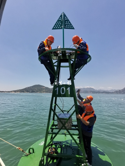 宁德航标管理站完成三都澳港区深水航道一期航标修复保养工程