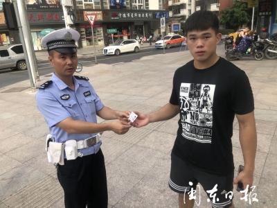 宁德新闻红榜丨东侨交警助考生寻回身份证
