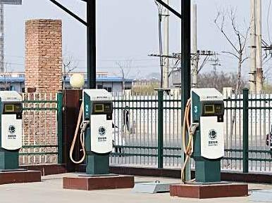 单石碑社区九号城市广场充电站正式建成投运