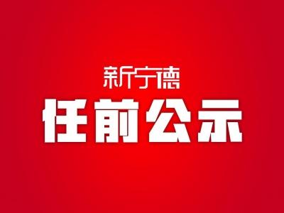 中共宁德市委组织部关于卓向晖等同志任前公示的公告