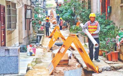 市区住宅小区雨污分流改造已进行到这一步……