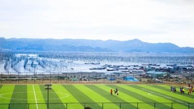 全中国离大海最近的标准足球场就在宁德!网友惊呼太美了……